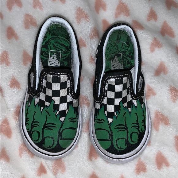 47cc669caa7518 Vans shoes marvel hulk toddler poshmark jpg 580x580 Hulk feet vans